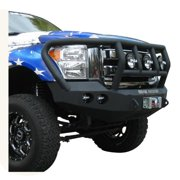 Road Armor 61102B RDA61102B 11-C FORD SUPER DUTY FRONT STEALTH WINCH BUMPER, TITAN II GUARD, SATIN BLACK