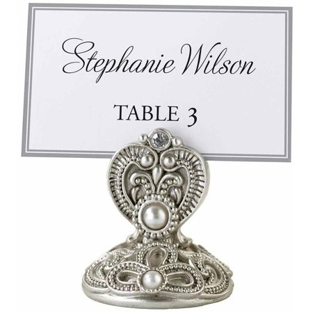 Set of 4 Jeweled Place Card Holders