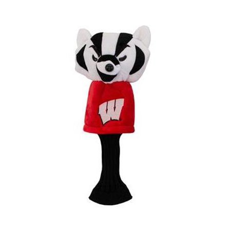 NCAA Wisconsin Badgers Golf Mascot Driver Headcover, long neck College Mascot Golf Headcover