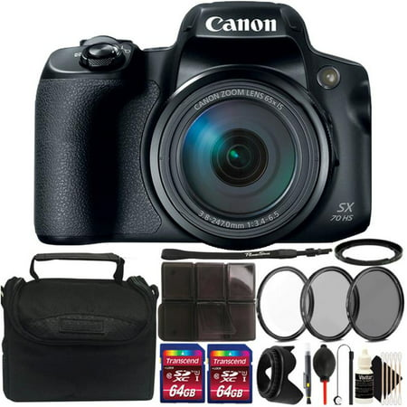 Canon Powershot SX70 HS 65X Zoom Camera with Best Value (Best Camera For 200)