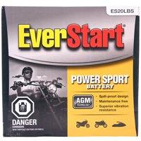 Everstart AGM PowerSport Battery, Group Size ES-20LBS