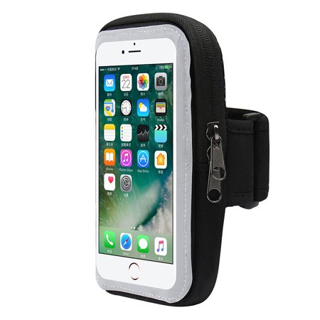 Deco Essentials Cell Phone Sport Armband Holder with Zipper Pocket for (S2 Sports Armband)