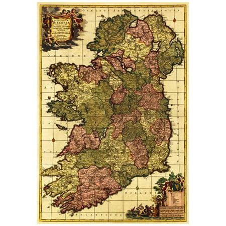 Ireland - Panoramic Map Poster - 13x19