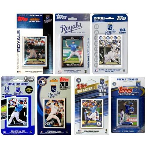 C & I Collectables ROYALS712TS MLB Kansas City Royals 7 Different Licensed Trading Card Team Sets