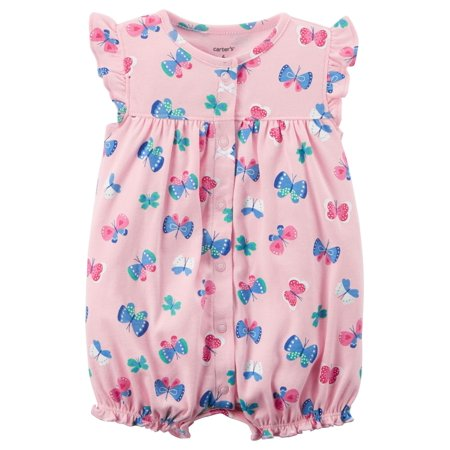 07d776ee4 Carter s Baby Girl s Snap-Up Cotton Romper Butterfly 3M - Walmart.com