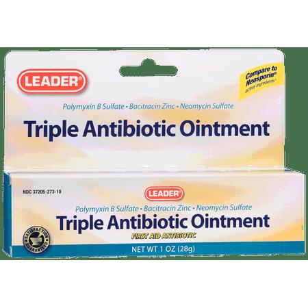 Leader triple antibiotic ointment, 1 oz  part no  1068808 (1