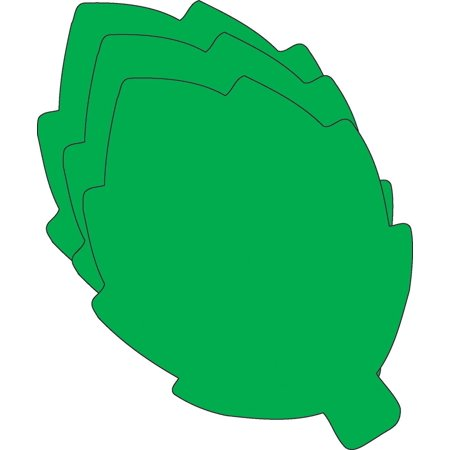 Large Single Color Cut-Out - Green Leaf