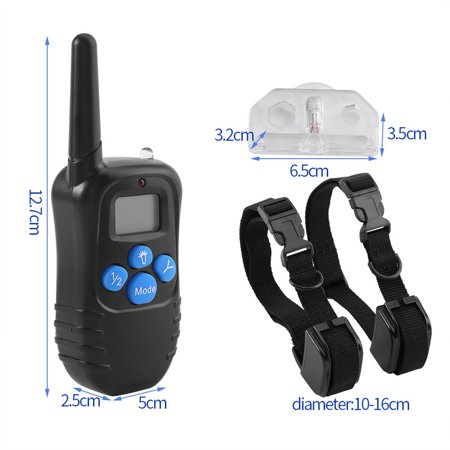 Walfront 100% Waterproof and Rechargeable Dog Shock Collar 330 yd Remote Dog Training Collar with Beep/Vibrating/Shock Electric E-collar, Two Collar