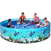 4ft- 8ft Foldable Swimming Pool, Bathing Pool, Ocean Balls Pool, Family Beach Summer Holiday Kids Paddling Pools 1.25ft (H)