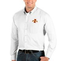 Iowa State Cyclones Antigua Big & Tall Dynasty Button-Down Long Sleeve Shirt - White