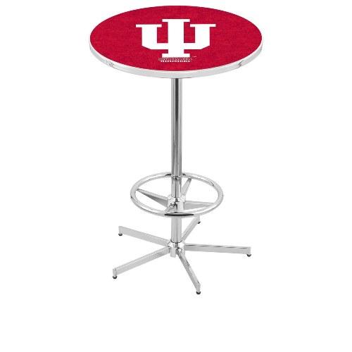 NCAA Pub Table by Holland Bar Stool, Chrome - Indiana Hoosiers, 42'' - L216