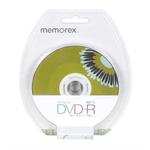 Refurbished Memorex 4.7GB 16X DVD-R, 10 Pack Blister (32020033968)