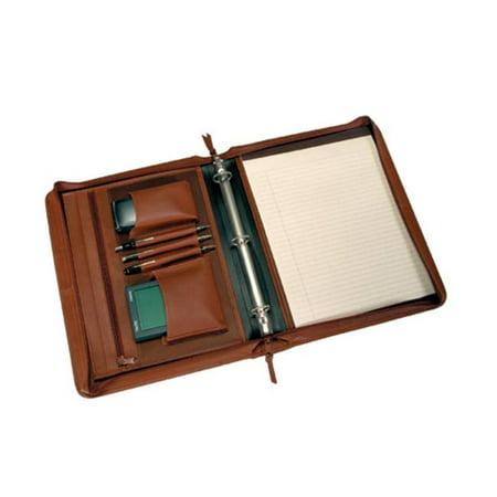 Royce Leather 305-TAN-5 Deluxe Convertible Zip Around Binder / Folio - Tan