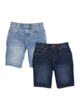 Wonder Nation Boys 4-18 & Husky Denim Shorts, 2-Pack