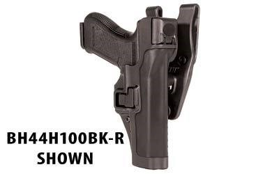 BLACKHAWK! Level 3 Duty SERPA Belt Holster, Fits Glock 17 19 22 23 31 32, Right Hand, Matte Finish, Black 44H100BK-R by BLACKHAWK!