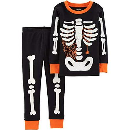 Carter Halloween Costumes (Carters Baby Boy Girl Halloween Glow-in-The-Dark Costume Pajamas PJs)