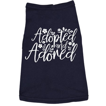 Dog Shirt Adopted And Adored Cute Clothes For Rescue Pet ()