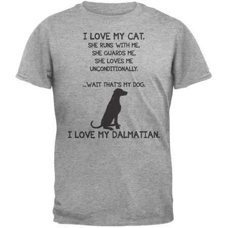 I Love My Dalmatian Girl Heather Gray Adult T-Shirt](101 Dalmatians Shirt)