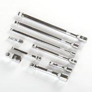 """9 Piece Wobble Extension Bar Set 1/4"""" 3/8"""" 1/2"""" Drive Ratchet Socket"""