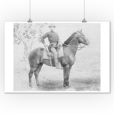 Soldier on His Horse in South Dakota Photograph (9x12 Art Print, Wall Decor Travel Poster) Crazy Horse South Dakota