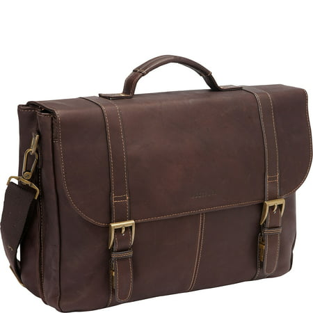Vinyl Womens Briefcase (Colombian Leather Flapover)