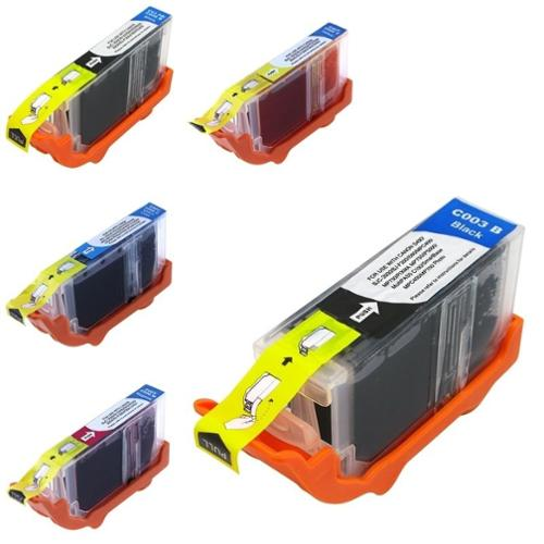Insten 5pcs set Ink Cartridge for Canon i860 Pixma iP4000 iP5000 MP750 MP760 MP780
