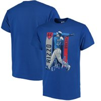 Anthony Rizzo Chicago Cubs Color Block Series Player Graphic T-Shirt - Royal