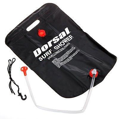 Dorsal Solar Heated Camping Surf Shower - Portable Rinse Kit