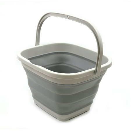 SAMMART 10L (2.6 gallon) Collapsible Rectangular Handy Basket /