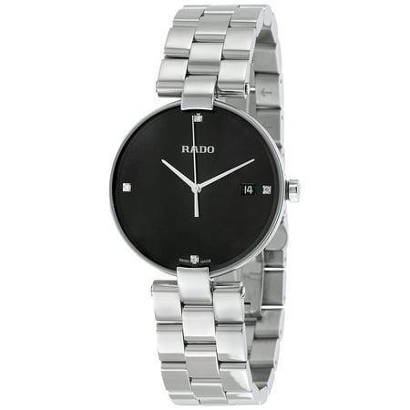 Rado Coupole Black Dial Ladies Stainless Steel Watch R22852703 (Woman Rado Watch)