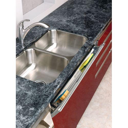 "Rev-A-Shelf 6541-22 Slim Line 22"" Stainless Steel Sink Front Tip-Out Tray"