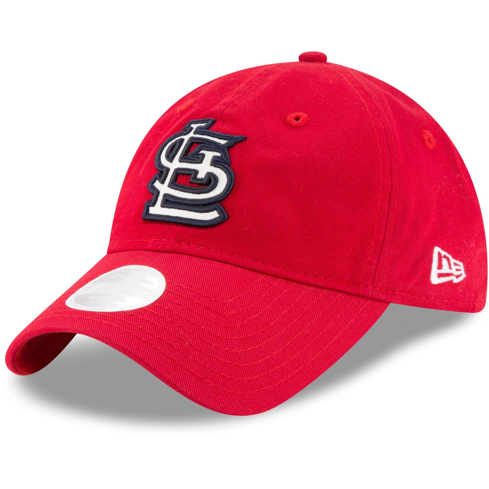 St. Louis Cardinals New Era Women's Team Glisten 9TWENTY Adjustable Hat - Red - OSFA