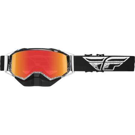 - Fly Racing Black/White Snow Goggles w/Red Mirror Dual Lens One Size 37-5023