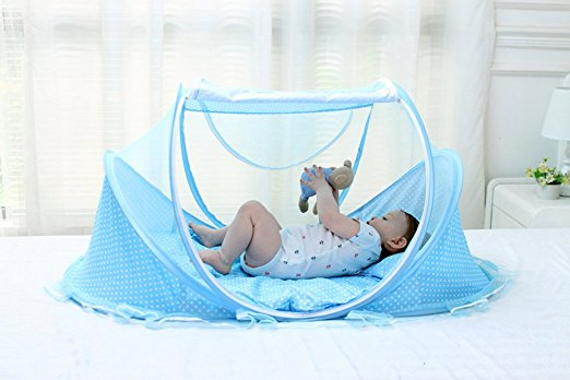 Meigar Baby Travel Bed, Crib Mosquito Ded Portable Baby Bed Folding Baby  Mosquito Net, Portable Baby Cots Crib Sleeper Bed For 0 18 Month For Infant  ...