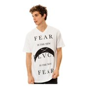 Black Scale Mens The Fear, The New Black Graphic T-Shirt, white, Small