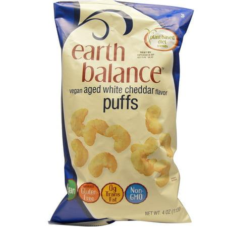 Earth Balance, Vegan Puffs, Aged White Cheddar Flavor, 4 oz (pack of -