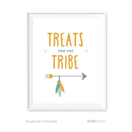 Treats for the Tribe Boho Chic Tribal Birthday Party Signs](Boho Birthday Party)