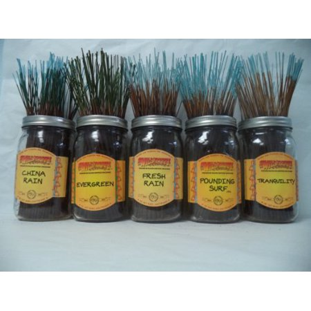 Wildberry Incense Sticks Fresh & Clean Scents Set #1: 4 Sticks Each of 5 Scents, Total 20