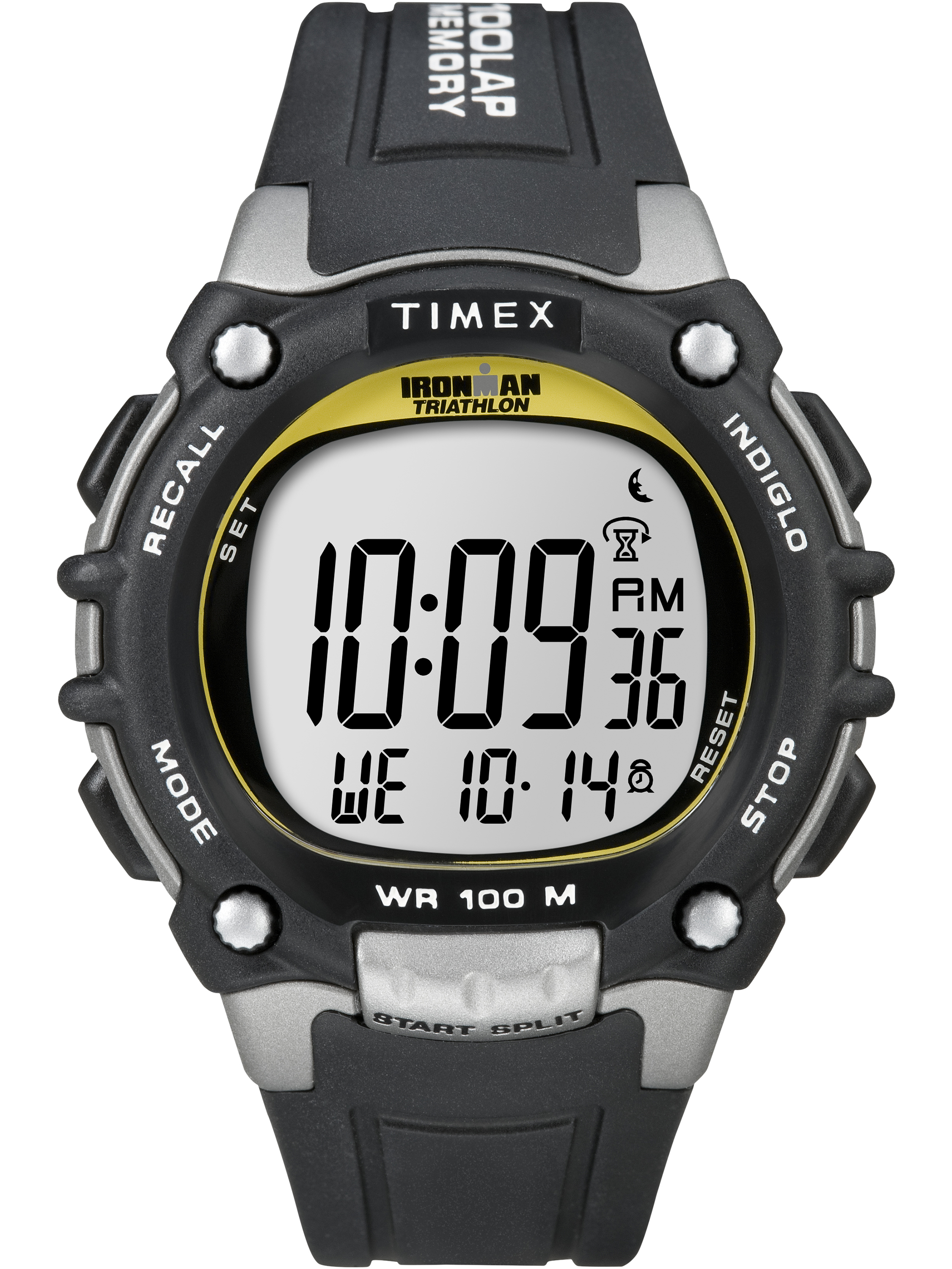 Timex Men's Ironman Classic 100 Full-Size Watch, Black Resin Strap by Timex