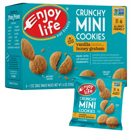Enjoy Life Foods Gluten Free, Allergy Friendly Crunchy Vanilla Honey Graham Mini Cookies