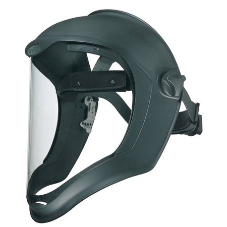 Uvex Bionic Face Shield with Clear Polycarbonate Visor (S8500) NEW FREE (Polycarbonate Visor)
