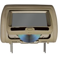 Tview 7 In Headrest Monitor with DVD Player Built in Speakers Remote Tan