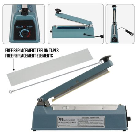 Ktaxon Heat Sealing Machine Manual Impulse Hot Sealer For