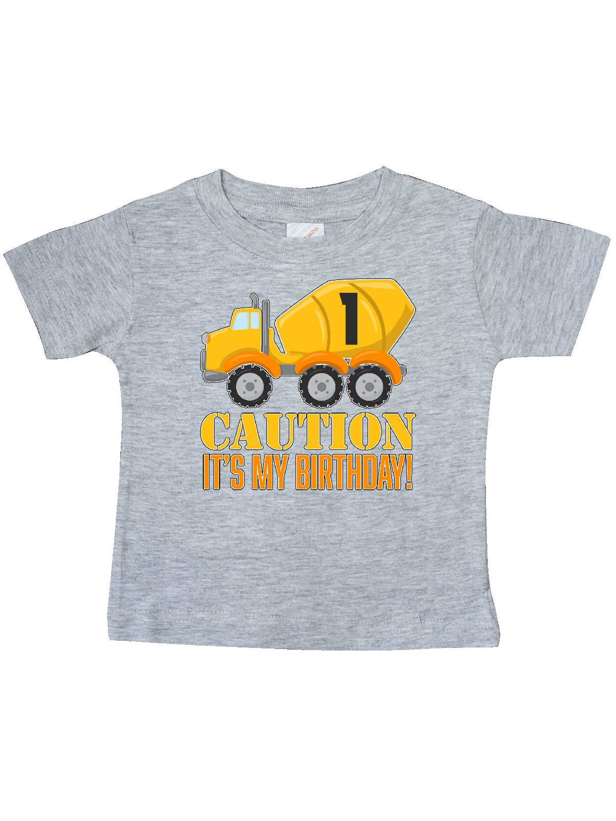 Inktastic 1st Birthday Construction Truck, Cement Mixer -one Year Baby T-Shirt by Inktastic