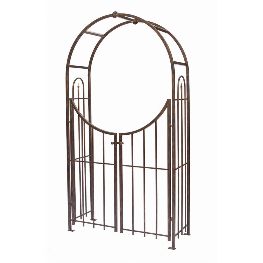Panacea Arched Top Garden Arbor with Gate by Panacea