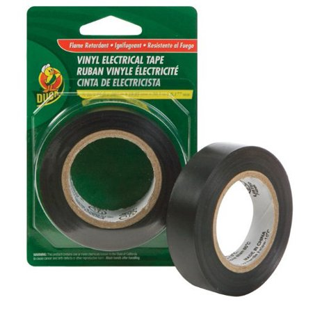 Professional Electrical Tape - Duck Brand 373447 Professional Electrical Tape, 0.75-Inch by 20-Feet, Single Roll, Black