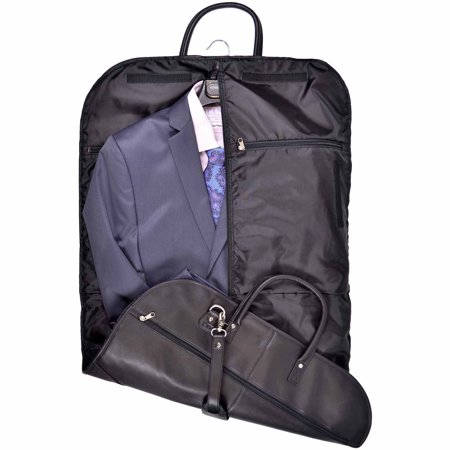 Royce Leather Garment Bag Travel Luggage in Milano Genuine Leather ...