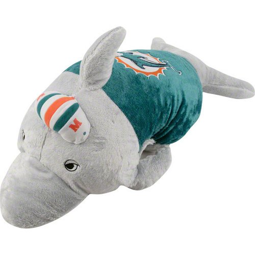 Miami Dolphins Licensed Team Pillow Pet Walmart Com