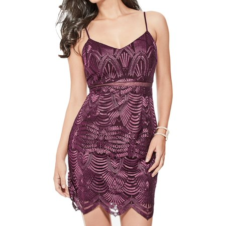 fc8301ffb1 Guess Dresses - Guess Fig Womens Embroidered Lace Sheath Dress ...