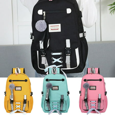 School Bags Large Bookbags for Teenage Girls USB with Lock Anti Theft Backpack Women Book Bag Youth Leisure